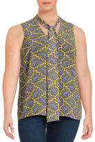 MICHAEL Michael Kors Plus Paisley Tie-Neck Top