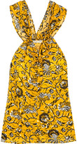 Etoile Isabel Marant Acan Printed Cotton Top - Yellow