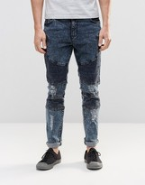 Systvm Biker Jean Nickel Seep Distressed