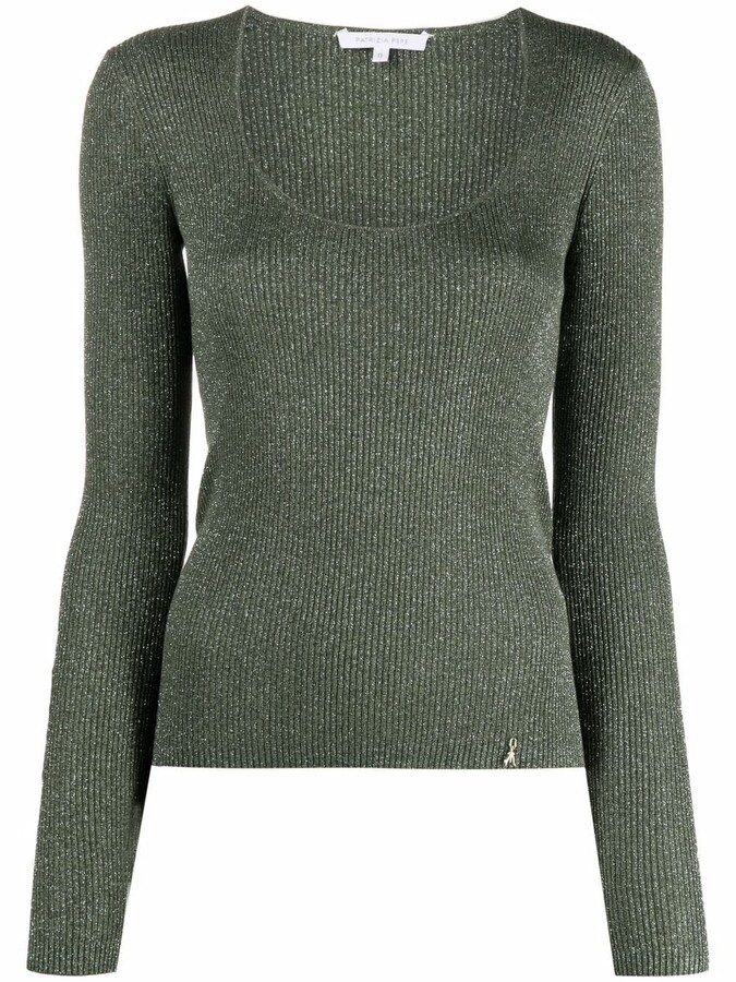 Thumbnail for your product : Patrizia Pepe Maglia metallic-knit jumper