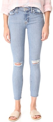 Hudson Women's Nico Midrise Ankle Raw Hem Super Skinny 5-Pocket Jean