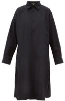 eskandar A-line Cotton-poplin Shirtdress - Womens - Black