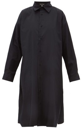 eskandar A-line Cotton-poplin Shirt Dress - Black