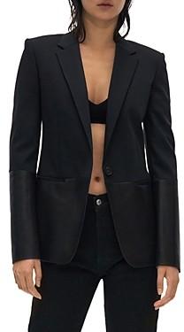 Helmut Lang Leather Trim Blazer