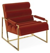 """Jonathan Adler Channeled Goldfinger 24"""" Lounge Chair"""