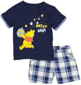Children's Apparel Network Navy Winnie the Pooh 'Buzzy Bees' Tee & Shorts - Infant