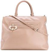 Versace logo zip tote bag - women - Polyester/Metal (Other)/Polyurethane Resin - One Size
