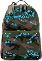 Valentino camouflage star print backpack
