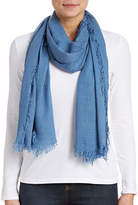 Lord & Taylor Solid Fringe Scarf