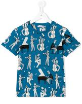 Dolce & Gabbana musical instrument print T-shirt - kids - Cotton - 2 yrs