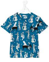 Dolce & Gabbana musical instrument print T-shirt - kids - Cotton - 4 yrs