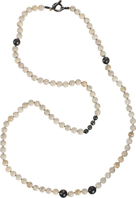 Yossi Harari Libra Riverstone, Cognac Diamond and Sapphire Bead Necklace