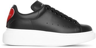 Alexander McQueen Black classic heart sneakers