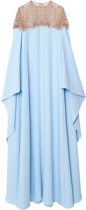 Carolina Herrera Drape-Detail Silk Dress