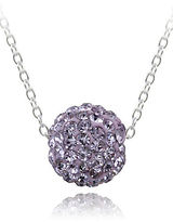 Lord & Taylor Crystal Studded Pendant Necklace