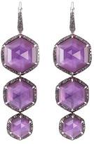 Stephen Webster 'Haze' sapphire Crystal Haze 18k white gold long drop earrings