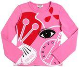 Kenzo Glittered Print Cotton Jersey T-Shirt