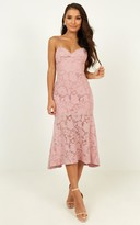 Showpo Endless loving dress in blush - 4 (XXS) Bridesmaid