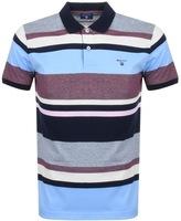 Gant Multi Stripe Polo T Shirt Blue