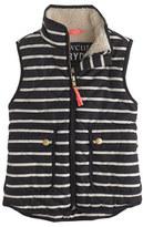 J.Crew Girls' excursion quilted vest in stripe