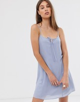 Weekday mini cami dress in baby blue