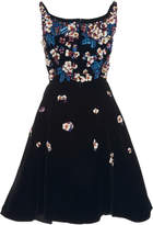 Oscar de la Renta Floral Embellished Cocktail Dress