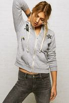 American Eagle Outfitters Don't Ask Why Patchwork Zip-Up Hoodie