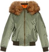 MR & MRS ITALY Fur-trimmed nylon bomber jacket