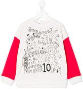 Burberry text print sweatshirt