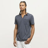 Kenneth Cole New York Striped V-Neck Henley T-Shirt