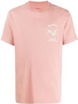 MHI logo embroidered T-shirt