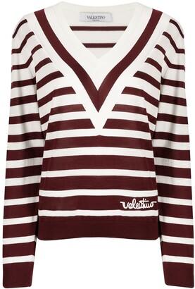 Valentino Signature Striped Jumper