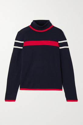 Erin Snow Kito Striped Merino Wool Turtleneck Sweater - Navy