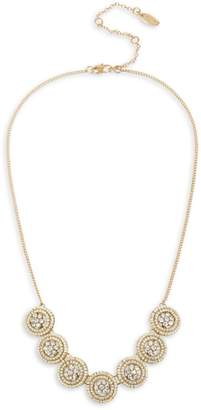 Miriam Haskell Woven Beaded Frontal Delicate Necklace