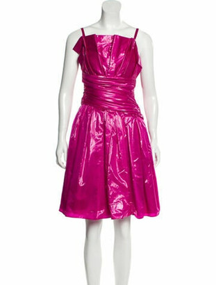 Boutique Moschino Square Neckline Knee-Length Dress w/ Tags Pink