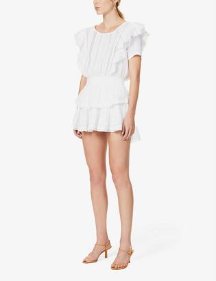 LoveShackFancy Natasha frilled cotton mini dress