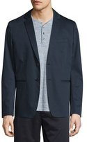 Vince Unconstructed Two-Button Sateen Jacket, Navy
