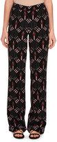 Valentino Love Blade Pajama Pants, Black