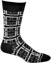 Ozone Men's Interlocking Squares Sock