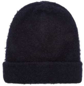 Acne Studios Peele Wool Blend Beanie Hat - Womens - Navy