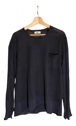 Acne Studios Blue Linen Knitwear & Sweatshirts