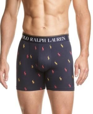 Polo Ralph Lauren Men's Logo-Print Stretch Jersey Boxer Briefs