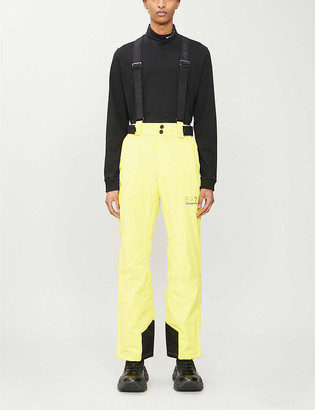 Ea7 Ski Shoulder-strap stretch-shell trousers