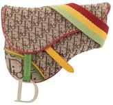 Christian Dior pre-owned Trotter pattern Saddle belt bag