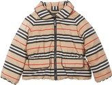 Burberry Mollie Icon Stripe Down Jacket