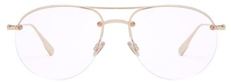 Christian Dior Aviator Metal Glasses - Womens - Gold