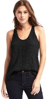 Gap Crochet lace scoop tank