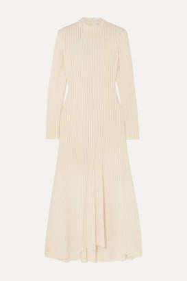 A.W.A.K.E. Mode Renton Ribbed-knit Midi Dress - Cream