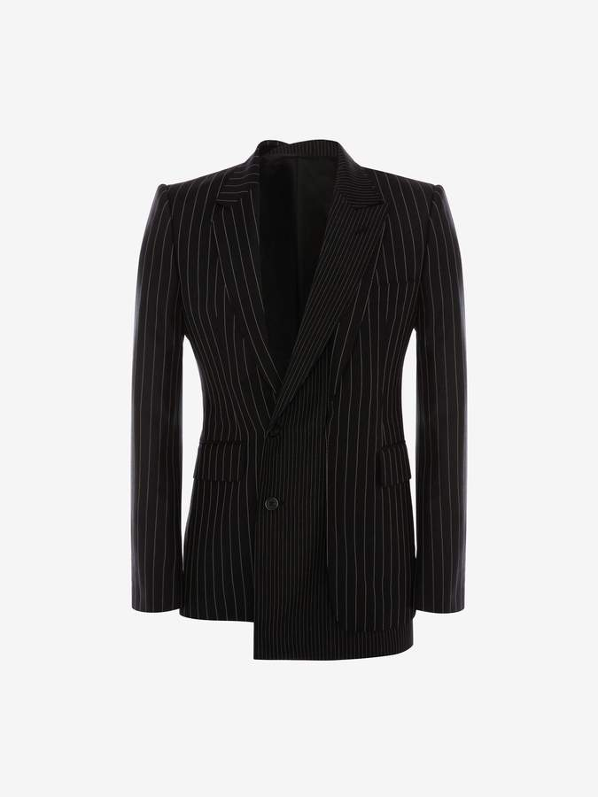 Alexander Mcqueen Trompe-l'il Pinstripe Jacket