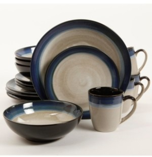 Gibson Couture Bands 16-piece Dinnerware Set Blue, Service for 4
